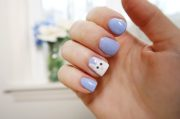 super simple easter bunny nails