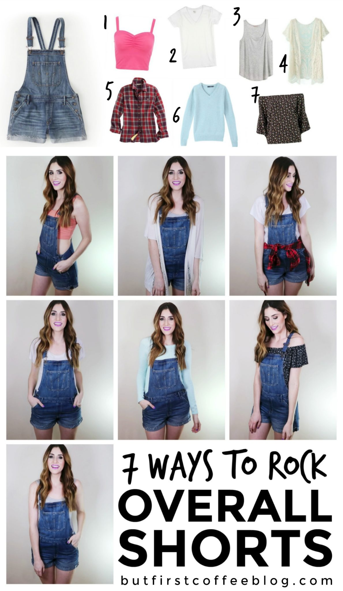 21d4cfdd2ba How to Wear Overall Shorts   7 Ways to Style Jean Overalls
