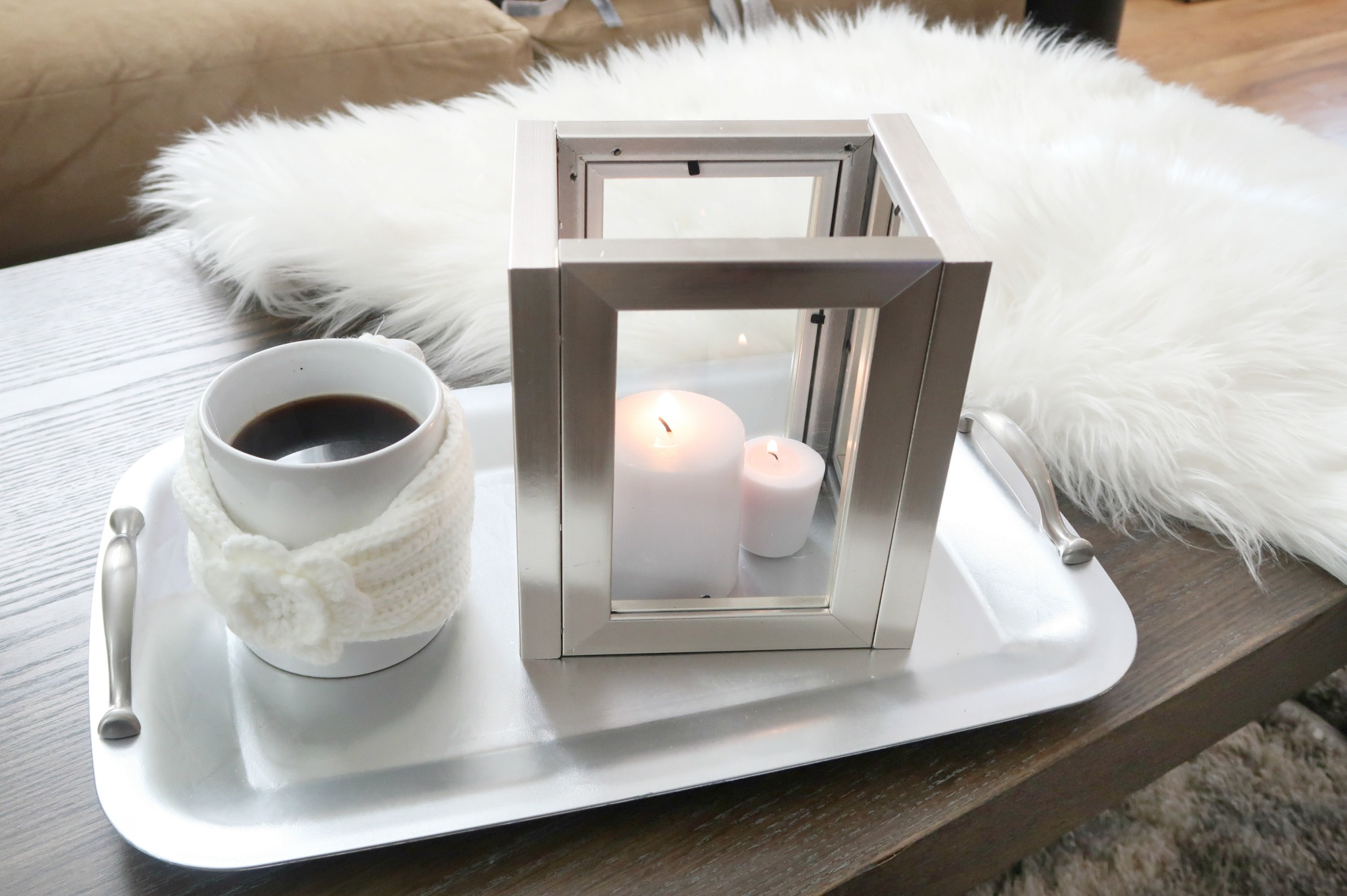 DIY Candle Lantern From the Dollar Tree + 5 other cozy, affordable DIYs
