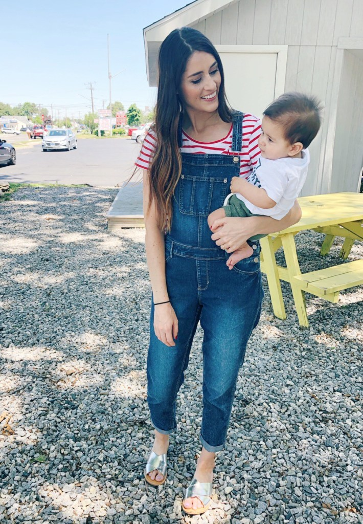 How to Style Overall Jeans | July Fourth Outfit Inspiration | CT Mom Blog