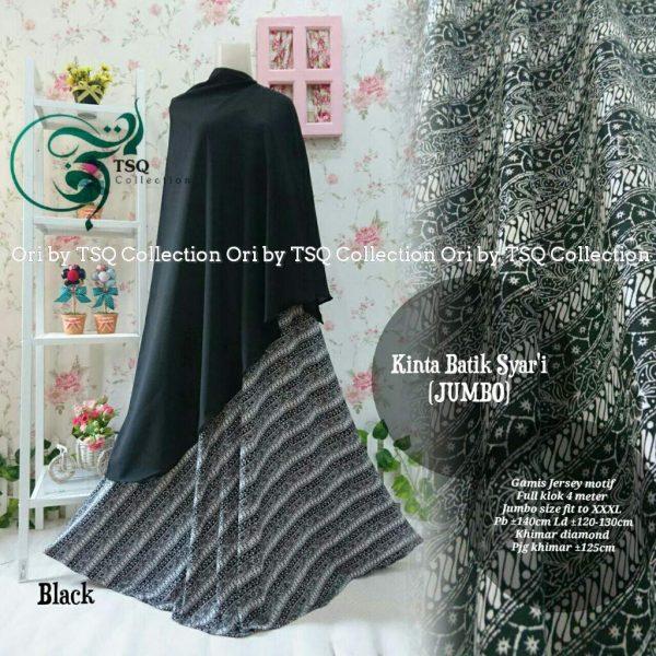 Gamis Jumbo B135 Kinta Syari Batik  Baju Muslim Jersey