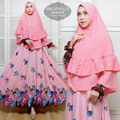 Zaskia Syari Baloteli  Baju Gamis Muslim Cantik Murah