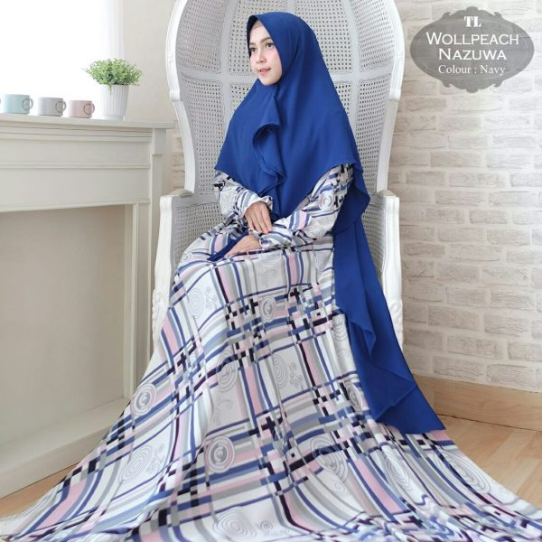 Gamis Jumbo Wolfish Nazuwa Baju Muslim Monalisa  Butik