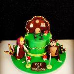 maşa ve koca ayı pastası