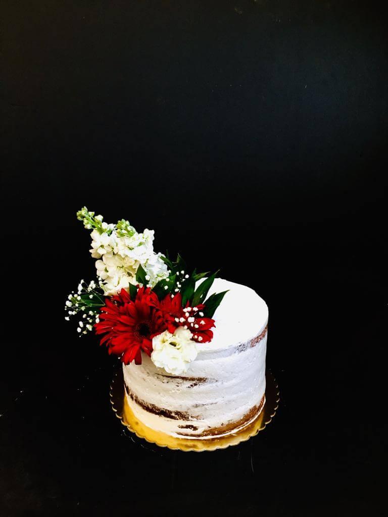 çiçekli naked cake