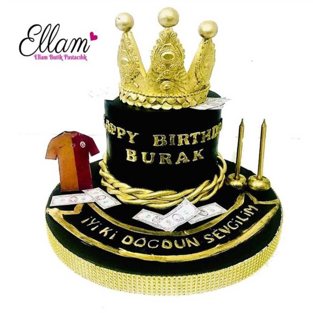 taçlı galatasaray pastası