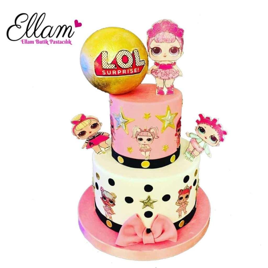 lol bebek temalı butik pasta
