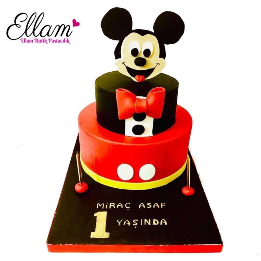 micky mouse temalı butik pasta