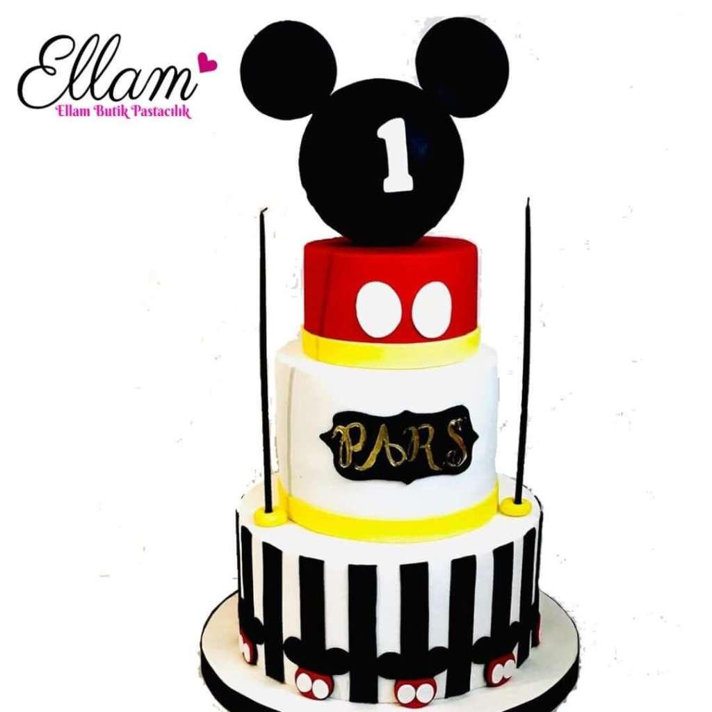 mick mouse temalı butik pasta