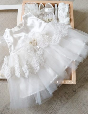 İncili prenses elbise 5li mevlit seti 0 6 ay 01 scaled - İncili prenses elbise 5'li mevlit seti 0-6 ay