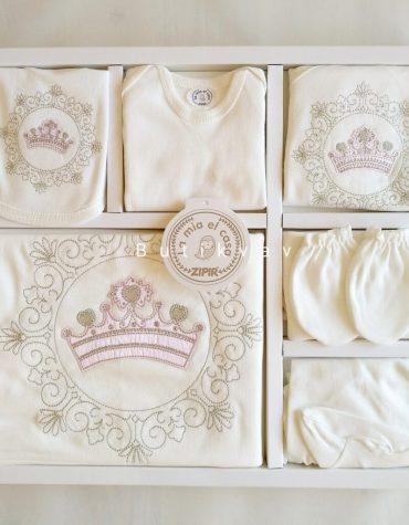 Kız Bebek Prenses Taç Süslemeli 10lu Hastane Çıkışı 01 scaled - Kız Bebek Prenses Taç Süslemeli 10'lu Hastane Çıkışı