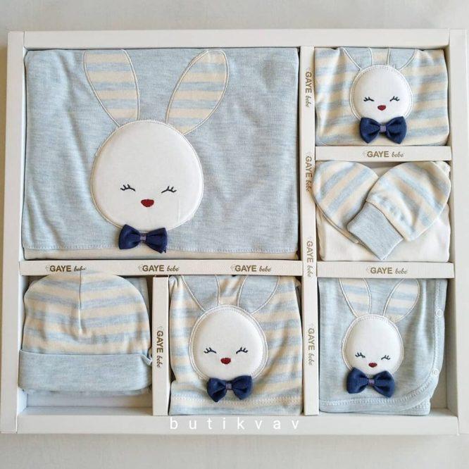 Gaye Bebe Erkek Bebek Tavşanlı 10 Parça Hastane Çıkışı mavi 01 scaled - Gaye Bebe Erkek Bebek Tavşanlı 10 Parça Hastane Çıkışı - mavi