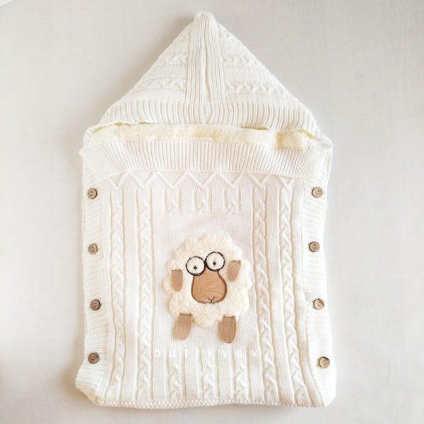 kiz bebek citcitli fluffy kundak 0 6 ay 01 scaled - Unisex Bebek Kuzulu İçi Peluş Triko Kundak