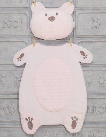 bebitof erkek bebek alt acma minder seti pelus ayi mavi 02 scaled - Bebitof Kız Bebek Alt Açma Minder Seti  - pembe