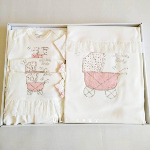 Bebitof Kız Bebek Dantel Süslemeli 10lu Hastane Çıkışı Krem Kopya 01 scaled - Bebitof Kız Bebek Dantel Süslemeli 10'lu Hastane Çıkışı - Pembe