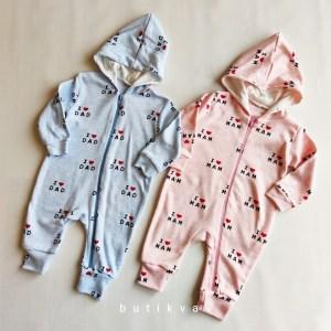 Kız Bebek Erkek Bebek Kapşonlu Tulum 3 ay 01 - Kız Bebek & Erkek Bebek Kapşonlu Cotton Tulum 6-9 ay