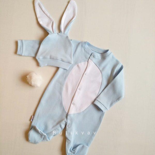 erkek bebek tavsan kulak tulum seti 6 9 ay 01 scaled - Erkek Bebek Tavşan Kulak Tulum Seti 6-9 Ay