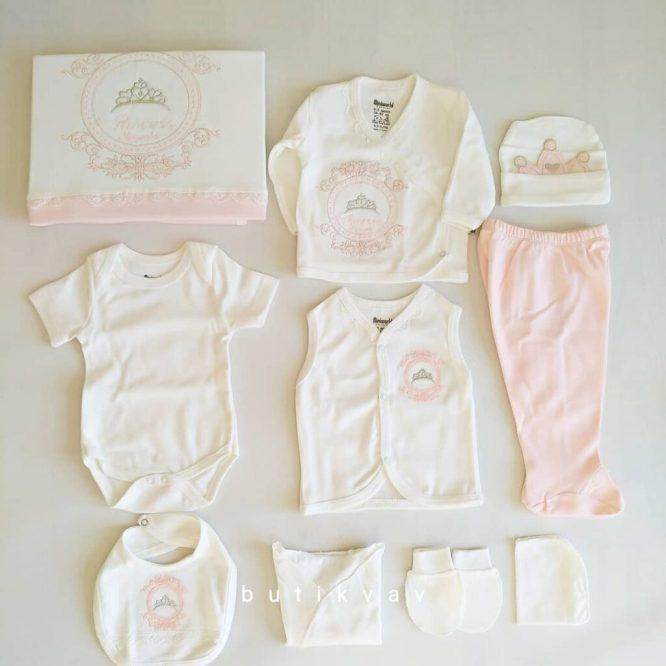 miniworld kiz bebek prenses yazili 10 lu hastane cikisi turkuaz 02 scaled - Miniworld Kız Bebek Prenses Taç Nakışlı 10'lu Hastane Çıkışı - Pudra