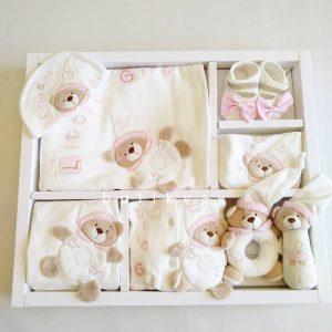 kiz bebek oyuncakli tulumlu lux 12 li hastane cikisi 01 scaled - Little Gift Oyuncaklı Tulumlu Lux 12'li Hastane Çıkışı