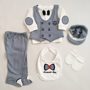 miniworld erkek bebek yelekli 5 li hastane cikisi lacivert 02 scaled - Miniworld Erkek Bebek Yelekli 6'lı Hastane Çıkışı- Lacivert