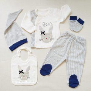 gaye tonton bebe 5 li hastane cikisi zibin seti 01 scaled - Gaye Tonton Bebe 5'li Hastane Çıkışı Zıbın Seti