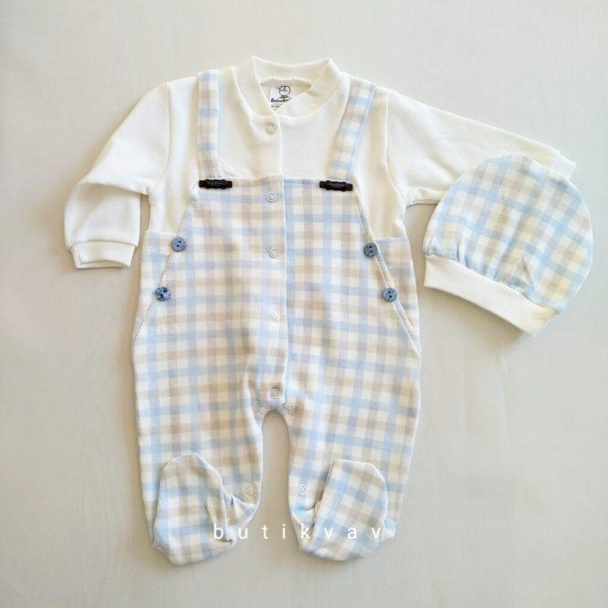 bebelinna erkek bebek potikareli tulum seti 0 3 ay 01 scaled - Bebelinna Erkek Bebek Potikareli Tulum Seti 0-3 Ay