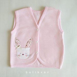 gaye tonton bebe tavsan nakisli yelek 0 1 ay 01 scaled - Gaye Tonton Bebe Tavşan Nakışlı Yelek 3-6 Ay