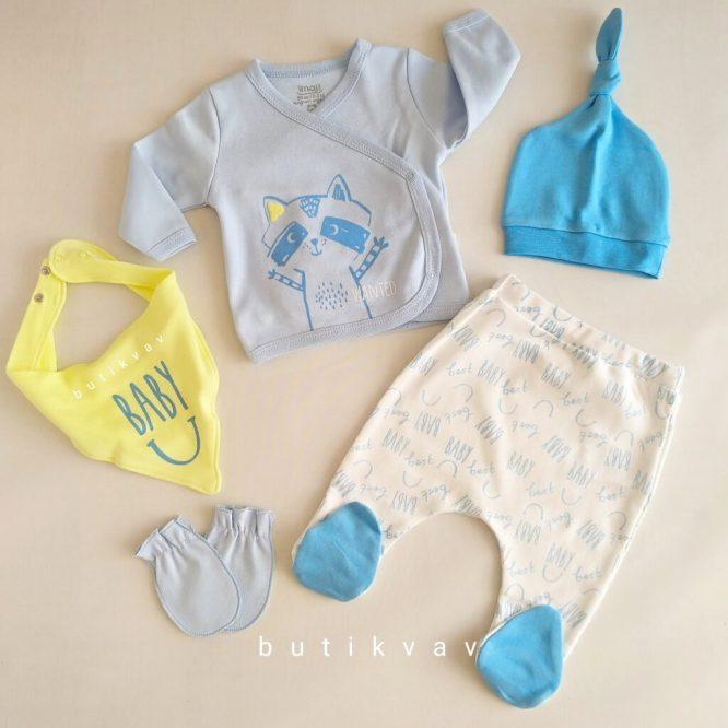 imaj baby erkek bebek 5 li hastane cikisi zibin seti 01 scaled - İmaj Baby Erkek Bebek 5'li Hastane Çıkışı Zıbın Seti