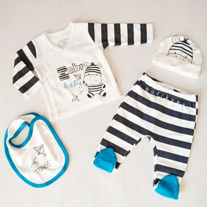 tongs bebek zebra hastane cikisi zibin seti 01 scaled - Tongs Bebek Zebra Hastane Çıkışı Zıbın Seti