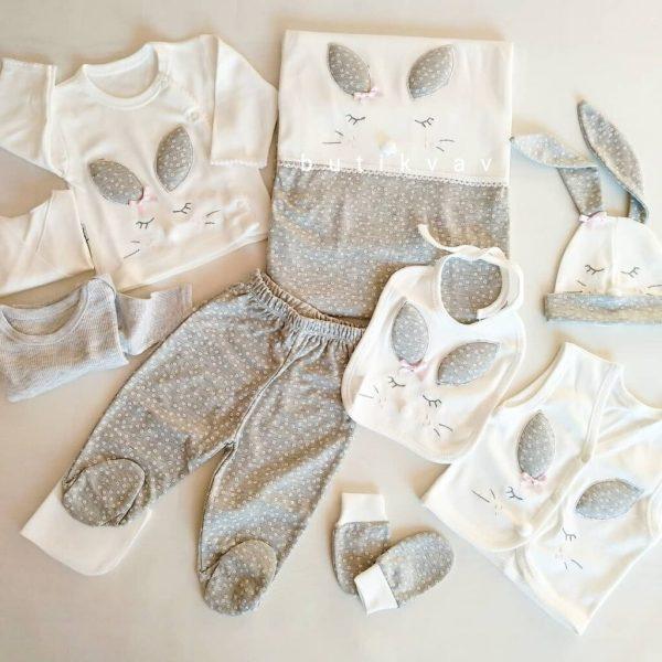 gaye bebe kiz bebek tavsan kulak 10 lu hastane cikisi 01 scaled - Gaye Bebe Kız Bebek Tavşan Kulak 10'lu Hastane Çıkışı Gri