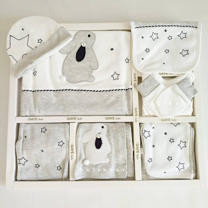 gaye bebe tavsan yildizlar 10 lu hastane cikisi gri 01 scaled - Gaye Bebe Tavşan & Yıldızlar 10'lu Hastane Çıkışı Gri