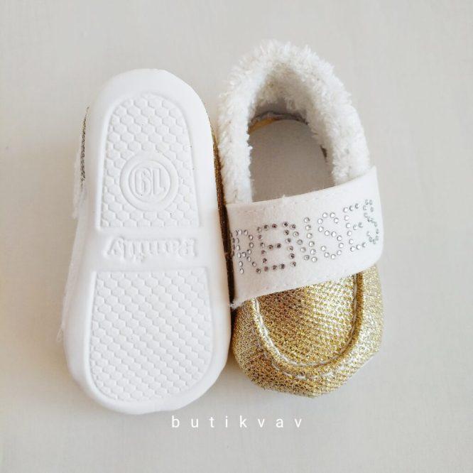 yenidogan kiz bebek pelus panduf 08 scaled - Prenses Taşlı Kız Bebek İlk Adım Ayakkabı - 19 no