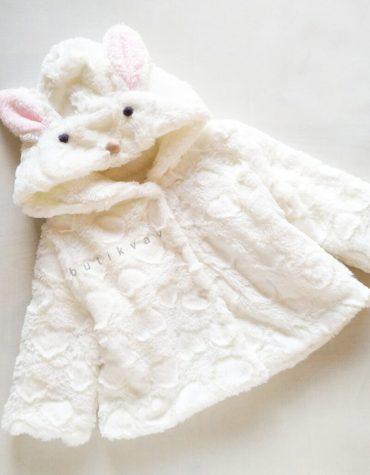 kiz bebek pelus kurk palto 6 ay 01 scaled - Kız Bebek Peluş Kürk Palto - 12 Ay