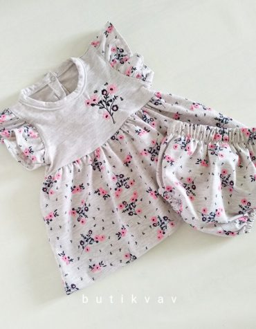 kiz bebek tavsan kulak pelus hirka 3 6 ay 01 scaled - Kız Bebek Çiçekli Elbise Takım