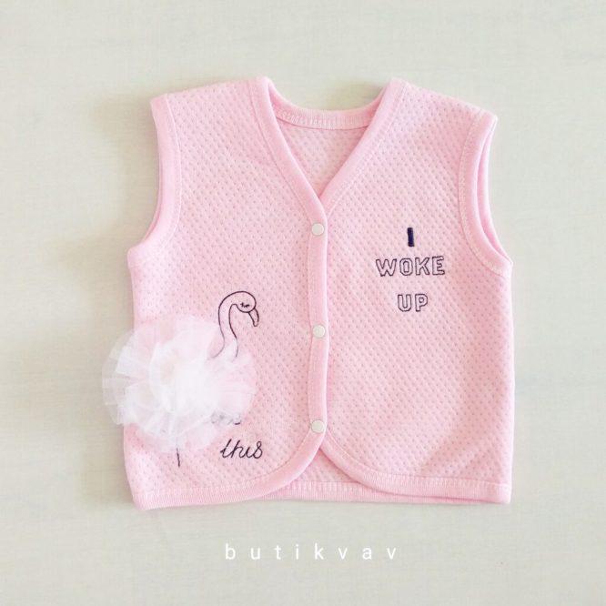 bebelinna suslu kus kiz bebek yelek 6 9 ay 01 scaled - Gaye Bebe Kız Bebek Tüllü Yelek