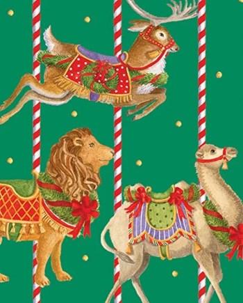 Caspari Servetter Merry go round green