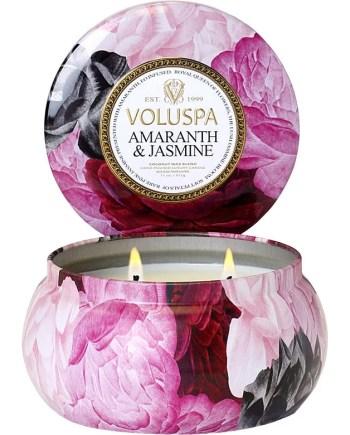Voluspa Tin Candle 2-wick Amaranth & Jasmine