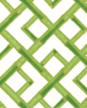 Caspari Servetter Bamboo Green