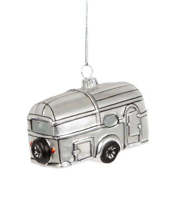 Sass & Belle Julgranshänge Husvagn Silver