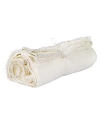 Axlings linne duk säckväv benvit