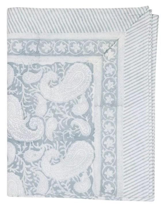 Chamois duk Big Paisley Cashmere Blue 150x230 cm