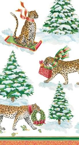 Caspari Servetter Leopards in snow