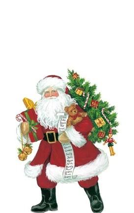 Caspari Servetter Lynn Haney Santa