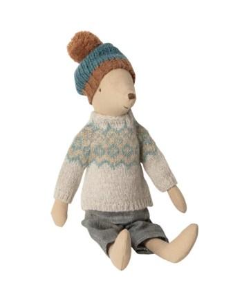 Maileg Vinter Mus Medium Pojke