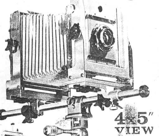 Calumet Scientific 4X5 View Camera, roll film holder for
