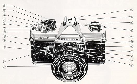 Fujica STX-1 Instruction manual, user manual, Fujica MPF105X