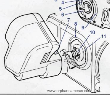 Hasselblad winder 205 TCC instruction manual, user manual