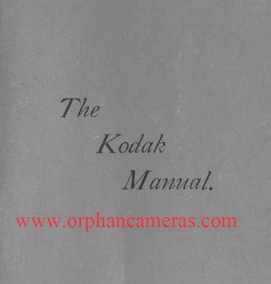 Kodak 1888 instruction, developing, printing manual, user