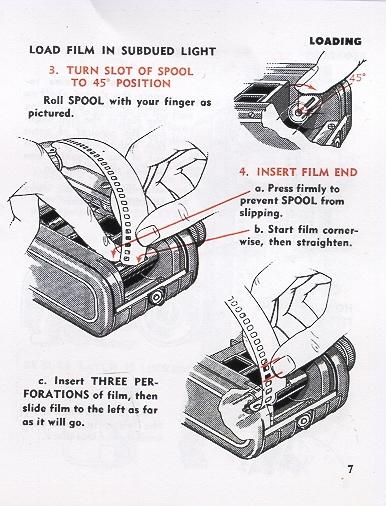 Viewmaster Stereo Camera instruction manual, use manual