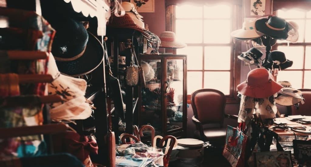 messy room full of items